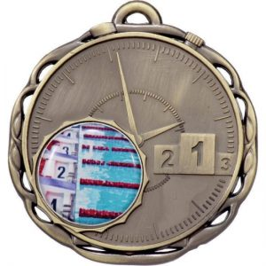 Stopwatch Medal with 25mm Centre Gold