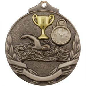 Swim Two Tone Medal