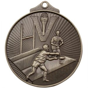 Rugby Medal Silver
