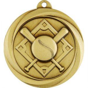 Econo Series Baseball Medal Gold