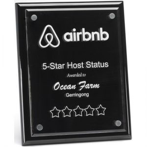 Premium Black Floating Plaque